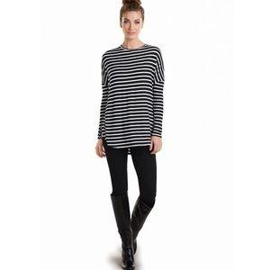 Mud Pie | Sanders Jersey Tunic Black/White Stripe